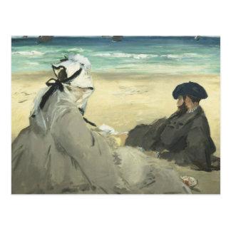 Edouard Manet - auf dem Strand Postkarte
