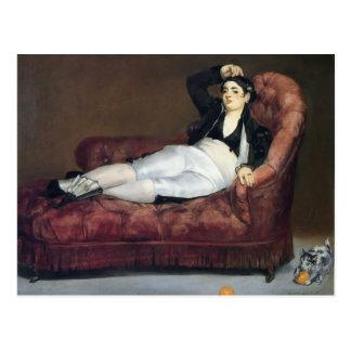 Edouard Manet- der Barque von Dante Postkarte