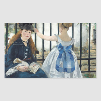 Edouard Manet - die Eisenbahn Rechteckiger Aufkleber
