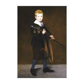 Édouard Manet Junge mit einer Klinge Leinwanddruck