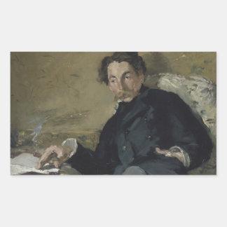 Edouard Manet - Stephane Mallarme Rechteckiger Aufkleber