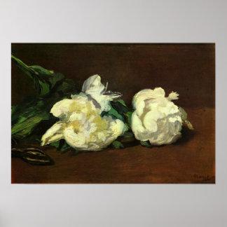 Edouard Manet - Stillleben-Vase mit Pfingstrosen Plakatdrucke