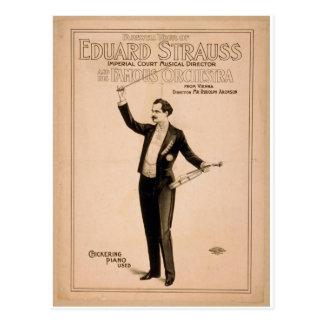 """Eduard Strauss, """"Chickering Klavier verwendete"""" Postkarte"""