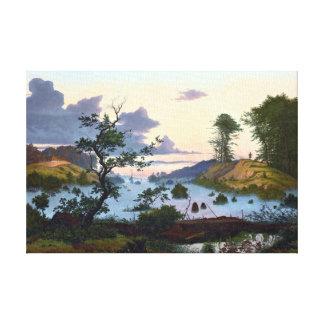 Eduard von Buchan Sunrise über Nordlandschaft Leinwanddruck