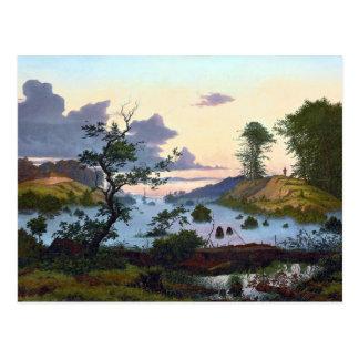 Eduard von Buchan Sunrise über Nordlandschaft Postkarte