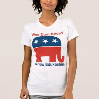 Edukashun - der T - Shirt der Frauen