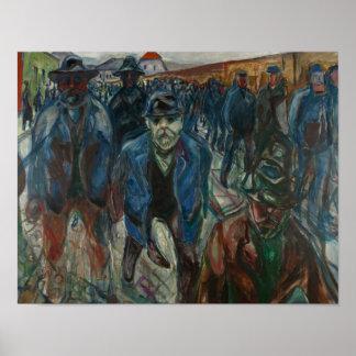Edvard Munch - Arbeitskräfte auf ihrem Poster