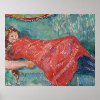 Edvard Munch - auf dem Sofa Poster