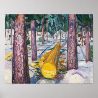 Edvard Munch - der gelbe Klotz Poster