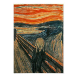 Edvard Munch - der Schrei Einladungskarte