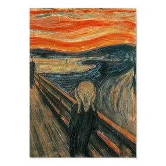 Edvard Munch - der Schrei 12,7 X 17,8 Cm Einladungskarte