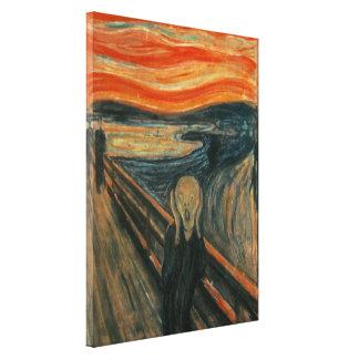 Edvard Munch - der Schrei Gespannter Galerie Druck