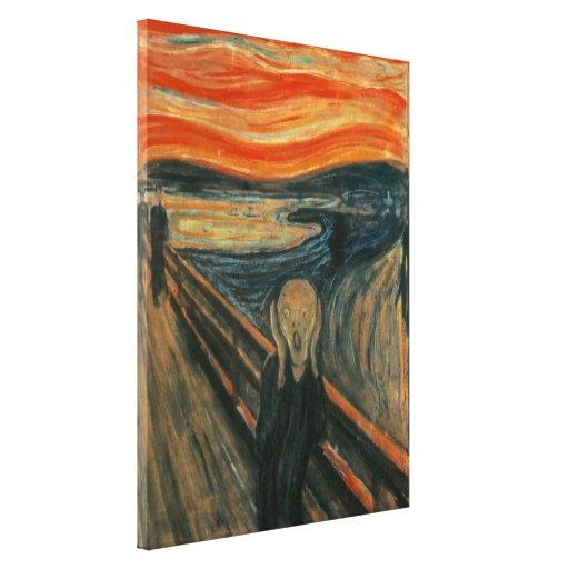 Edvard Munch - der Schrei Galerie Falt Leinwand