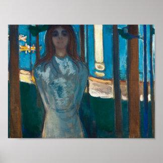Edvard Munch - die Stimme, Sommer-Nacht Poster