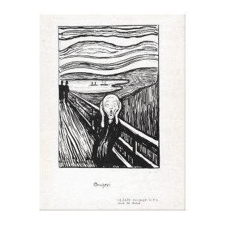 Edvard Munch Illustration der Schrei Leinwanddruck