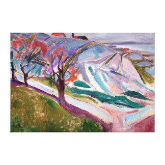 Edvard Munch Landschaft, Kragerø Leinwanddruck