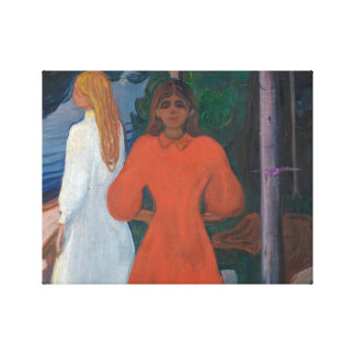 Edvard Munch - Rot und Weiß Leinwanddruck