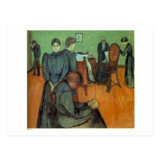 Edvard Munch - Tod im Sickroom 1895 Postkarte