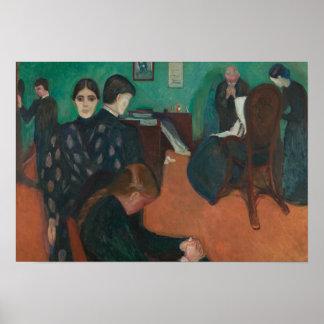 Edvard Munch - Tod im Sickroom Poster