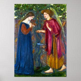Edward Burne-Jones die Ankündigung Poster