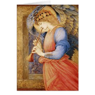 Edward Burne-Jones - ein Engel, der ein Flageolett Karte