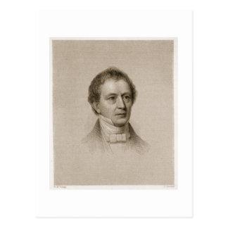 Edward Everett, graviert von John Cheney (1801-85) Postkarte