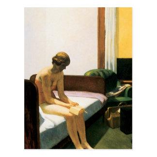 Edward Hopper-Hotelzimmer Postkarte