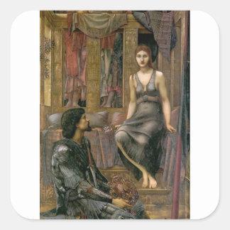 Edward-- Jones-König Cophetua und das Quadratischer Aufkleber