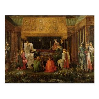 Edward Jones - Tod von König Arthur Postkarte