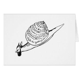 Edward Lear snail mail Karte