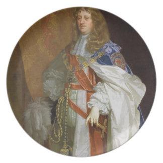 Edward Montagu, 1. Graf des Sandwiches, c.1660-65  Flacher Teller