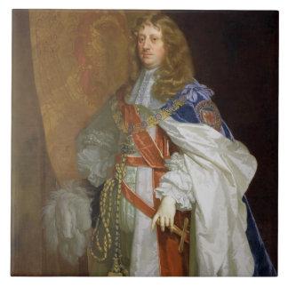 Edward Montagu, 1. Graf des Sandwiches, c.1660-65  Große Quadratische Fliese