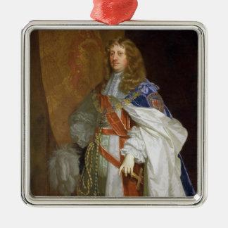Edward Montagu, 1. Graf des Sandwiches, c.1660-65 Quadratisches Silberfarbenes Ornament