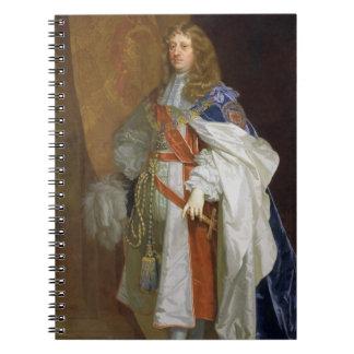 Edward Montagu, 1. Graf des Sandwiches, c.1660-65  Spiral Notizbuch