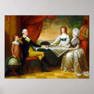 Edward-Savage die Washington-Familie Poster