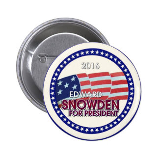 Edward Snowden für Präsidenten 2016 Anstecknadelbutton