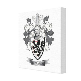 Edwards Familienwappen-Wappen Leinwanddruck