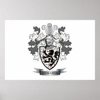 Edwards Familienwappen-Wappen Poster