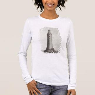 Edystone Leuchtturm graviert von Edward Rooker Langarm T-Shirt