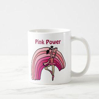 EE, rosa Power-Flamingo-und Regenbogen-Entwurf Kaffeetasse
