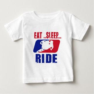 Eeat Schlaf und Fahrt Baby T-shirt