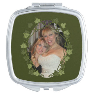 Efeu-Kreis-Foto-Rahmen Taschenspiegel