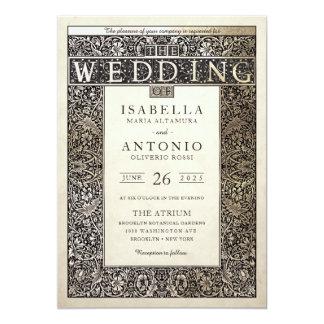 Efeu-Sammlung der Hochzeits-Einladungs-| Champagne Karte
