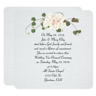 Efeu- und Blumenblumenstrauß auf Quadratische 13,3 Cm Einladungskarte