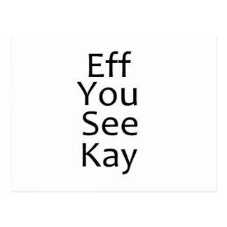 EFF sehen Sie Kay zu schwärzen Postkarte