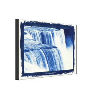 Effekt Niagara Falls Cyanotype Leinwanddruck