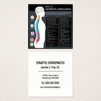 Effekte des vertebralen Subluxations-Chiropraktors Quadratische Visitenkarte