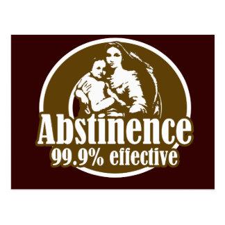 Effektiver religiöser Spaß der Abstinenz-99% Postkarte