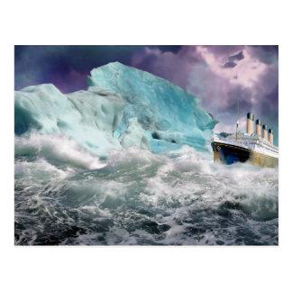 Effektivwert titanisch und Eisberg-Malerei Postkarte