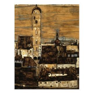 Egon Schiele- Stein auf der Donau, von Kreuzberg Postkarte